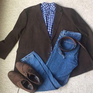 Men's Sport Coat, Size 52R, Brown